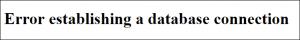 Datenbank hinüber